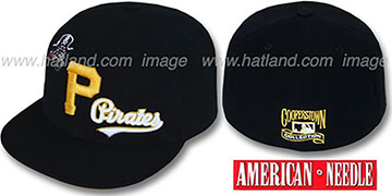 Pirates 'DAY CAMP' Black Fitted Hat by American Needle