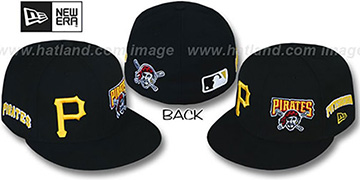 Pirates 'EVOLUTION' Fitted Hat by New Era - black