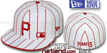 Pirates 'FABULOUS' White-Red Fitted Hat by New Era