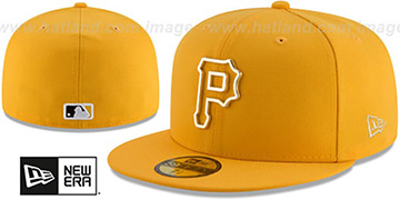 Pirates 'GOLD FRAMED METAL-BADGE' Gold Fitted Hat by New Era