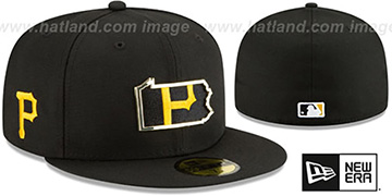 Pirates GOLD STATED INSIDER Black Fitted Hat by New Era