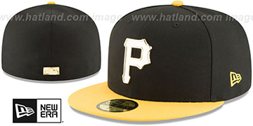 Pirates 'GOLDEN-BADGE' Black-Gold Fitted Hat by New Era