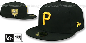 Pirates GOLDEN-HIT Black Fitted Hat by New Era