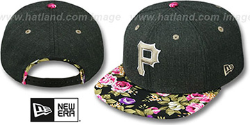 Pirates 'HEATHER BLOOM SNAPBACK' Charcoal-Black Hat by New Era