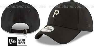 Pirates MINI GOLD METAL-BADGE STRAPBACK Black Hat by New Era