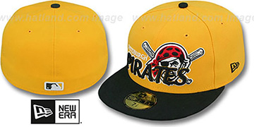 Pirates MLB-TIGHT Gold-Black Fitted Hat by New Era
