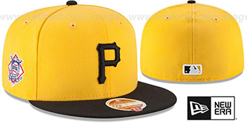 Pirates 'MLB WOOL-STANDARD' Gold-Black Fitted Hat by New Era