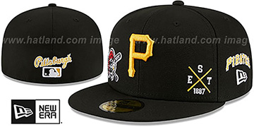 Pirates MULTI-AROUND Black Fitted Hat by New Era