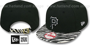 Pirates OSTRICH-ZEBRA STRAPBACK Hat by New Era