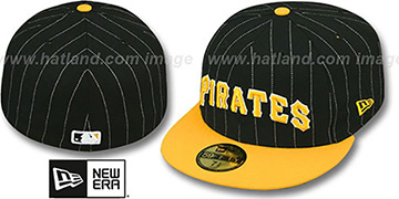 Pirates 'PIN-SCRIPT' Black-Gold Fitted Hat by New Era