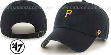 Pirates 'POLO STRAPBACK' Black Hat by Twins 47 Brand