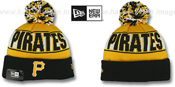 Pirates 'REP-UR-TEAM' Knit Beanie Hat by New Era