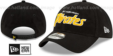 Pirates RETRO-SCRIPT SNAPBACK Black Hat by New Era