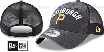 Pirates RUGGED-TEAM TRUCKER SNAPBACK Black Hat by New Era