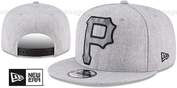Pirates SILKED-XL SNAPBACK Heather Light Grey Hat by New Era