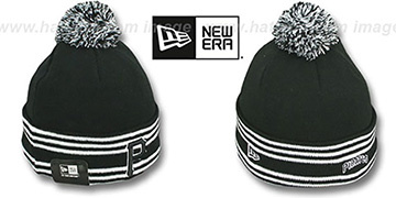 Pirates 'SPORT-KNIT' Black-Black Beanie Hat by New Era