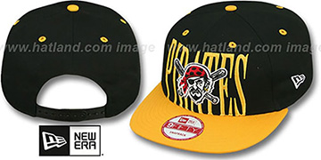 Pirates 'STEP-ABOVE SNAPBACK' Black-Gold Hat by New Era