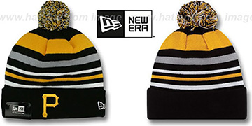 Pirates 'STRIPEOUT' Knit Beanie Hat by New Era
