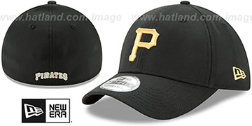 Pirates TEAM-CLASSIC Black Flex Hat by New Era