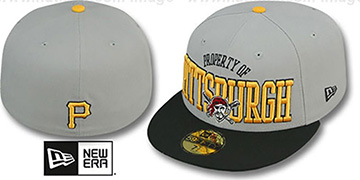 Pirates 'TEAM-PRIDE' Grey-Black Fitted Hat by New Era