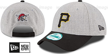 Pirates 'THE-LEAGUE HEATHER STRAPBACK' Grey-Black Hat by New Era