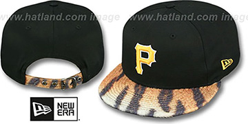 Pirates TIGER ANIMALISTIC-FUR VIZA STRAPBACK Hat by New Era
