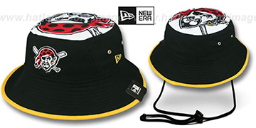 Pirates 'TOPPER TRAINING BUCKET' Black Hat by New Era