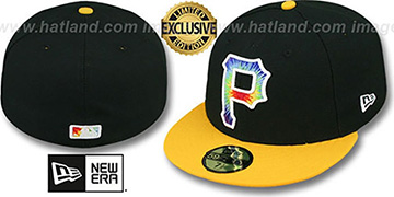 Pirates 'TYE-DYE INSIDER' Black-Gold Fitted Hat by New Era