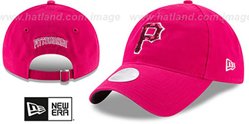 Pirates WOMENS MOTHERS DAY GLIMMER STRAPBACK Pink Hat by New Era