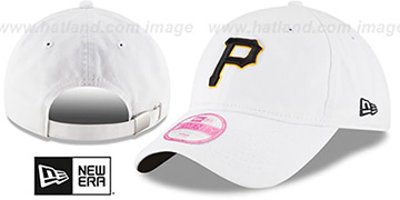 Pirates 'WOMENS PREFERRED PICK STRAPBACK' White Hat by New Era