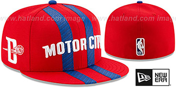 Pistons 19-20 CITY-SERIES Red Fitted Hat by New Era