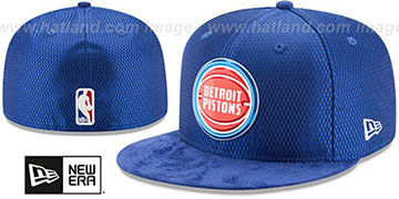 Pistons 2017 ONCOURT DRAFT Royal Fitted Hat by New Era