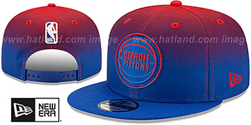 Pistons BACK HALF FADE SNAPBACK Hat by New Era