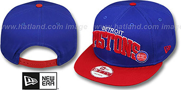 Pistons 'CHENILLE-ARCH SNAPBACK' Royal-Red Hat by New Era