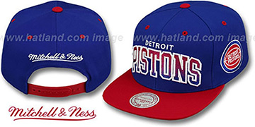 Pistons GRADIANT-ARCH SNAPBACK Royal-Red Hat by Mitchell & Ness