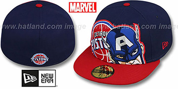 Pistons 'HERO-HCL' Navy-Red Fitted Hat by New Era