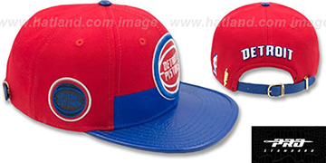 Pistons HORIZON STRAPBACK Red-Royal Hat by Pro Standard