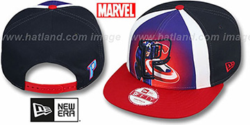 Pistons MARVEL RETRO-SLICE SNAPBACK Navy-Red Hat by New Era