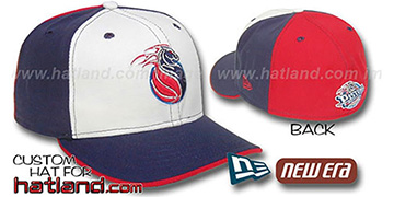 Pistons 'PINWHEEL' White-Navy-Red Fitted Hat