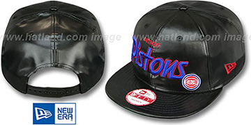 Pistons 'REDUX SNAPBACK' Black Hat by New Era