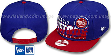 Pistons SLICE-N-DICE SNAPBACK Royal-Red Hat by New Era