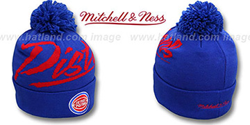 Pistons 'VICE BEANIE' Royal by Mitchell and Ness