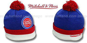 Pistons XL-LOGO BEANIE Royal by Mitchell and Ness
