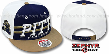 Pitt 2T SUPERSONIC SNAPBACK Navy-Gold Hat by Zephyr