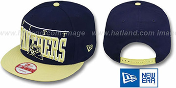 Pitt 'LE-ARCH SNAPBACK' Navy-Gold Hat by New Era