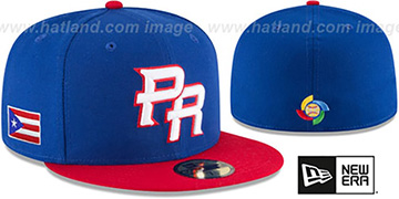 Puerto Rico 'PERFORMANCE WBC-2' Royal-Red Hat by New Era