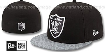 Raiders '2014 NFL DRAFT' Black Fitted Hat by New Era