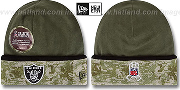 Raiders '2014 SALUTE-TO-SERVICE' Knit Beanie Hat by New Era