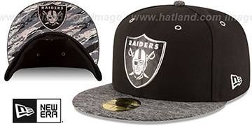 Raiders '2016 MONOCHROME NFL DRAFT' Fitted Hat by New Era