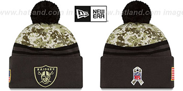 Raiders '2016 SALUTE-TO-SERVICE' Knit Beanie Hat by New Era